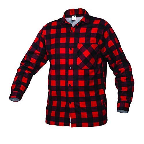 Gahibre 536 Camisa franela roja, 100% algodón 170 gramos