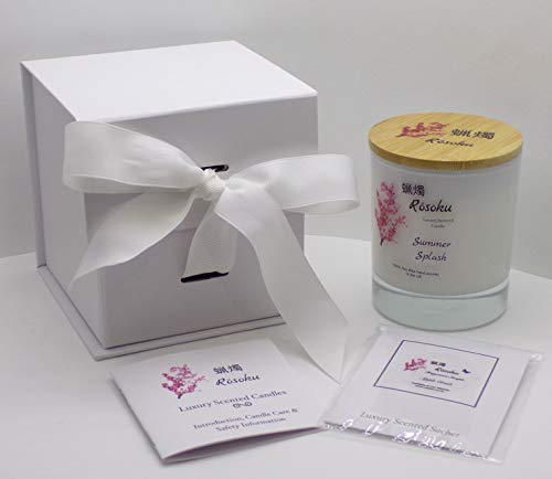 Summer Splash Luxury Scented Candle / Pet Odour Eliminator (220g White)