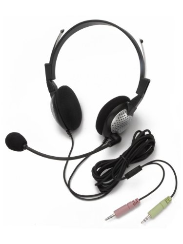 Andrea Electronics NC-185 High Fidelity Stereo PC Headset with Noise Canceling Microphone (C1-1022400-1)
