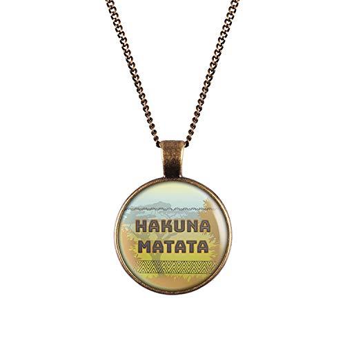 Collar con Motivo león Hakuna Matata...