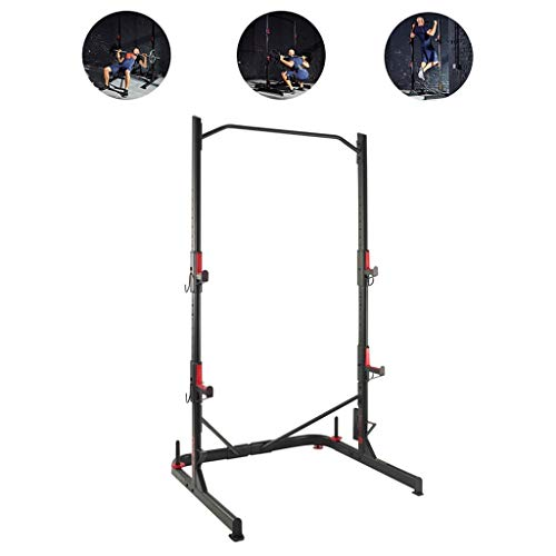 Pull-ups Rekstok Pull-up Apparatuur Thuis Barbell Rack Volwassen Kinderen Pull-up Beschermer Verdikte Rekstok Squat Rack Bench Press Rack (Color : Black, Size : 116 * 112 * 212cm)