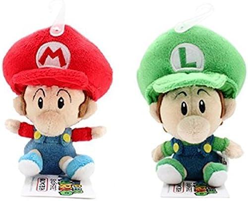 Set of 2 Sanei   Mario and   Luigi Plush Doll by Sanei