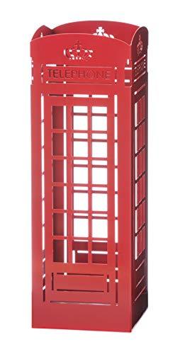 Mango Steam Portaombrelli Alto, 55 x 18 x 18 cm(Cabina Telefonica, Rosso)