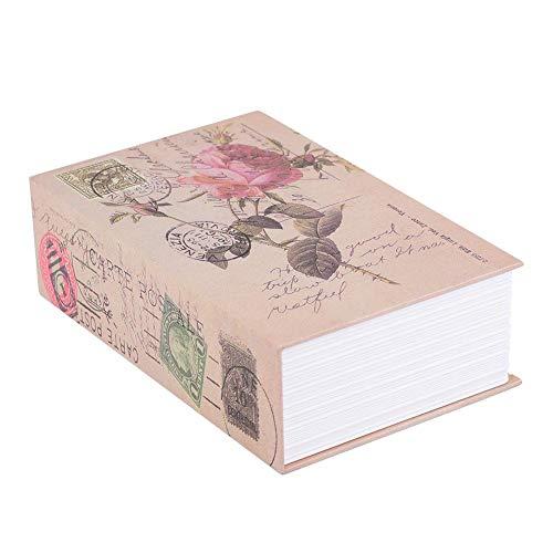 Secret Book Safe - Passwortsperre versteckte Geldkassette, tragbare Safe für Geld, Schmuck, Buch und Pass(ROSE)