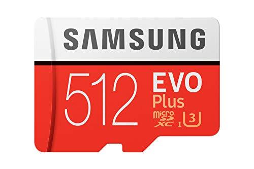 SAMSUNG Evo Plus - Scheda microSD da 512 GB + Adattatore