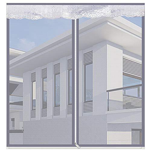 Magnetisch vliegengaas, voor ramen en insecten, magnetisch horren, voor ramen 100x120Cm(39x47Zoll) grijs