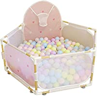 Playpens Portable Kids Play Yard Indoor Baby Play Fence with Balls, Outdoor Boys Girls Children Infant Toddler Safety Activity Area Fence