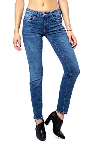 Only Onlfeva Reg Slim BB Soo732ab Noos Vaqueros Straight, Azul (Medium Blue Denim Medium Blue Denim), 34/L30 (Talla del Fabricante: 26) para Mujer