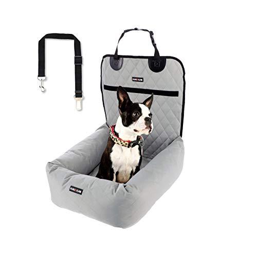 KREXUS EX9005 - Hundesitz Auto 2 in 1 – Hundeautositz Hunde Autositz Hundekorb Beifahrersitz Sitz Welpen Ausstattung Hundebox Rückbank Hundetransport Transportbox Autokorb – Wasserdicht, Beige