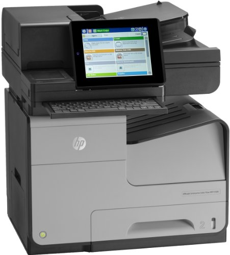 HP MFP Flow X585zOfficejet Enterprise Color Farbtintenstrahldrucker (Drucken, scannen, kopieren, faxen, 2.400x1.200 dpi, USB 2.0, Duplex, ML) grau/schwarz