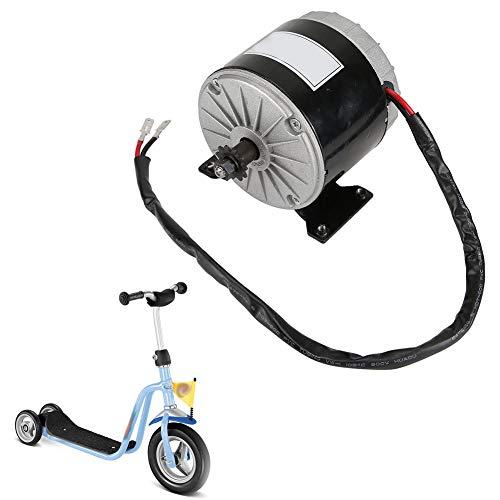 Motor de Alta Velocidad de CC de imán Permanente, 2750 RPM MY 1016 24 V 350 W, Motor de Cepillo, 11 Dientes y 25 Cadenas de piñones, Motor de Engranaje eléctrico Reversible de bajo Ruido para Scooter
