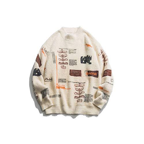 Graffiti Gebreide trui truien streetwear hiphop lange mouwen coltrui breigoed trui mannen tops