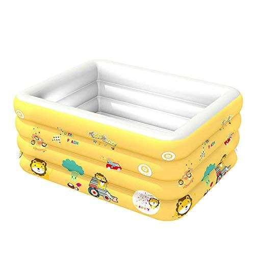 LYYAN Niños Piscina Inflable,Piscina Duradera para Patio Piscina Hinchable Infantil Usado para Jardín Fiesta Al Aire Libre(Amarillo Azul)