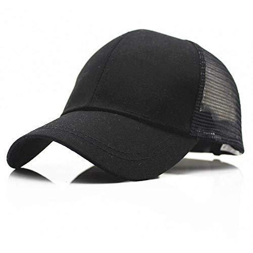 Sombreros de boutique al aire libre - Gorra de béisbol Llegadas Pelo de cola de caballo Gorra de béisbol Mujeres Desordenado Bolso Béisbol Sombrero de verano Snapback Rejilla Mamá ( Color : Black )
