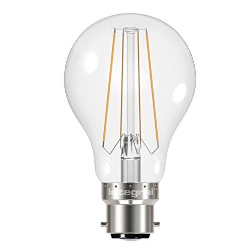 Integral 57-98-52 Ampoule classic B22 filament 470lm 2700K 4,5W équivalent à 40W, Verre, 4 W, Blanc