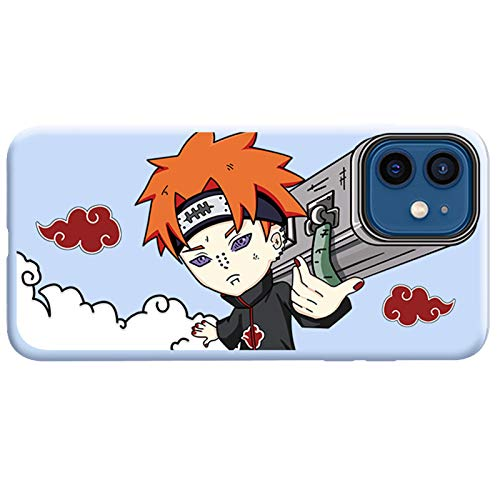 TXWL Naruto Anime - Funda para iPhone 11 11Pro 11ProMax, Uchiha Sasuke Kakashi Dolor Personalizado Cannon Patrón Diseño TPU Funda Cubierta Trasera Anti-Scratch Basic-Cases Azul- 11ProMax