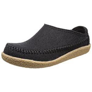 HAFLINGER Men's Low-Top Open Back Slippers