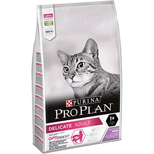 PURINA PRO PLAN DELICATE Katzenfutter trocken mit OPTIDIGEST, reich an Truthahn, 1er Pack (1 x 10kg)