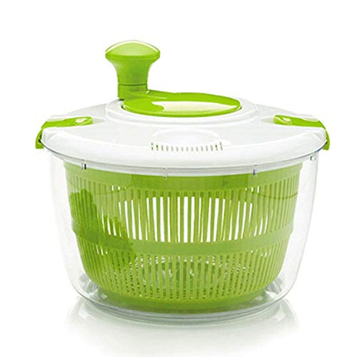 Great Price! PP + PS material, vegetable dehydrator, green household salad dehydrator (green white)