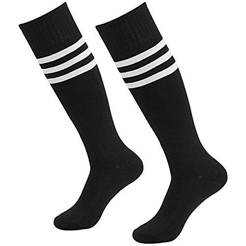 Cosanter Medias hasta la rodilla, para hombre, mujer, fútbol, béisbol, deporte, calcetines de compresión., Schwarz, 35