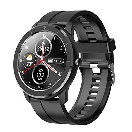 XYZK Voller Touch-Bildschirm T6 Smart Watch AI-Uhr-Gesichts-Herzfrequenz-Monitor IP68 wasserdichte Smartwatch-Männerfrauen Für Android Ios,A