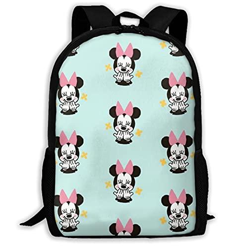 Mochila de Minnie Mouse unisex de poliéster, mochila de viaje, bolsa de juego escolar