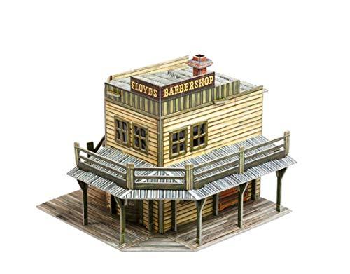 UMBUM 447 Wild West Barbershop Brettspiel in schlanker Box, Mehrfarbig