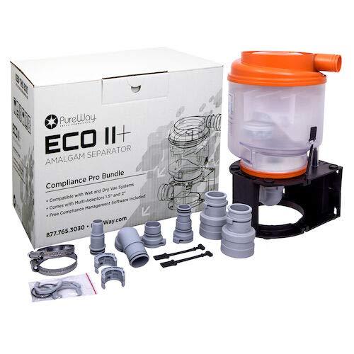 PureWay Eco II Plus Orange Amalgam Separator for 1-10 Chairs Complete Kit (New & Upgraded Model 2020)