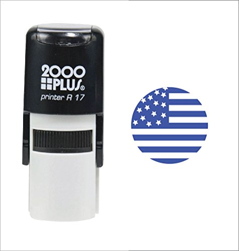 USA Flag 2000 Plus Self Inking Patriotic Teacher Rubber Stamp for Veteran, 4th of July and Memorial...