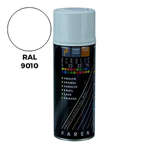 Faren 5VE400 BOTE SPRAY 400ML DE PINTURA ACRILICA AL 100% RAL 9010 BLANCO BRILLO