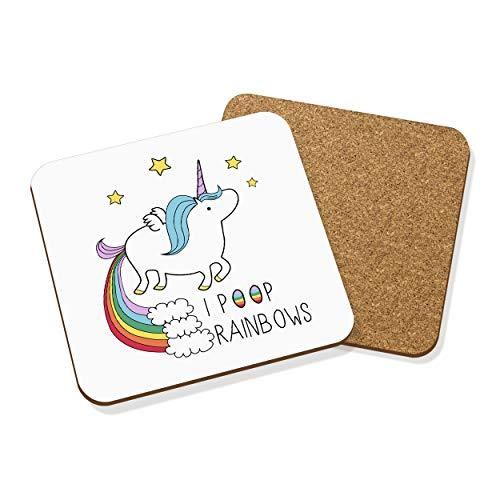 Gift Base Licorne I Poop Rainbows dessous Tapis Carré