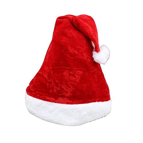 DaoRier 1× Bonnet de Père Noel Noël-Chapeau Noel Père-Convient pour la Plupart des Adultes-Rouge