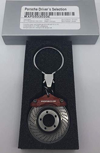 Porsche Schlüsselanhänger Bremsscheibe ROT | Original Design | NUR Hier + Extra Schlüsselring Mit Schraubverschlusss | Set