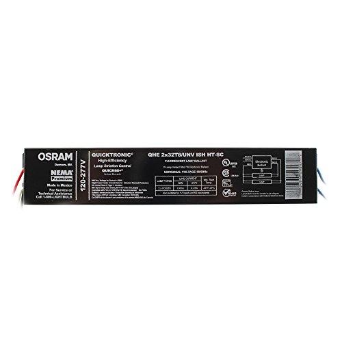 Sylvania QHE2x32T8/UNV-ISH HT-SC Fluorescent Ballast, 2-Lamp, F32T8, 32W T8, 120/277V