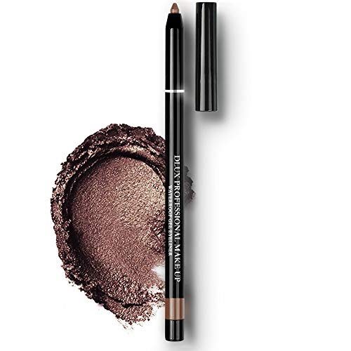 Dlux Professional - Stick Cream Eye Shadow and Waterproof Gel Eyeliner for Eye Makeup | Perfect Color Long Lasting, Smooth, Smudge Proof, Color Tattoo, Shimmer Type, 4g, Pencil Liner, Made in Korea