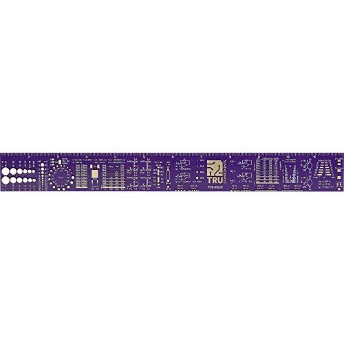 TRU COMPONENTS PCB Lineal Magenta 1 St. PCB Ruler (L x B x H) 300 x 34 x 1 mm