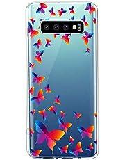 Oihxse Funda Conpatible con Samsung Galaxy A21S Silicona Transparente Dibujos Mariposa Cover Suave TPU Gel Cristal Clear Delgada Anti- Arañazos Protección Carcasa Case,Colorido 1