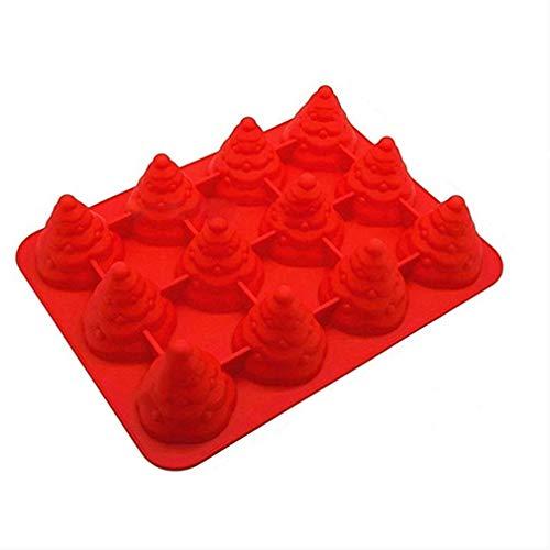 MyWheelieBin Backform Aus Silikon 12-baumkuchen 35 * 26.5 * 7cm rot