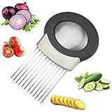 BESTonZON Cipolla Titolare vegetale Patata Cutter affettatrice forchetta affettare aiutante utensile da Cucina aiuti Gadget Taglio Chopper