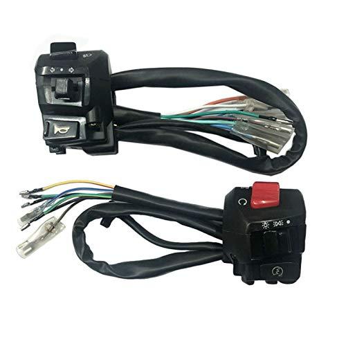 linger Interruptor de Control del Manillar de la Motocicleta Cuerno de Giro de la señal de Giro Faro del Interruptor de Arranque eléctrico del Conector del Conector CG125 EN125 Interruptor
