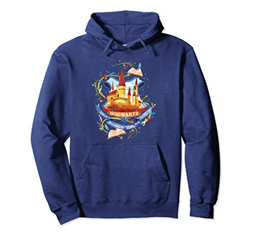 Harry Potter Watercolor Hogwarts Crest Pullover Hoodie