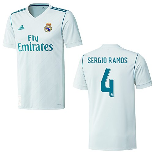 adidas REAL Madrid Trikot Home Herren 2018 - Sergio Ramos 4, Größe:XXL