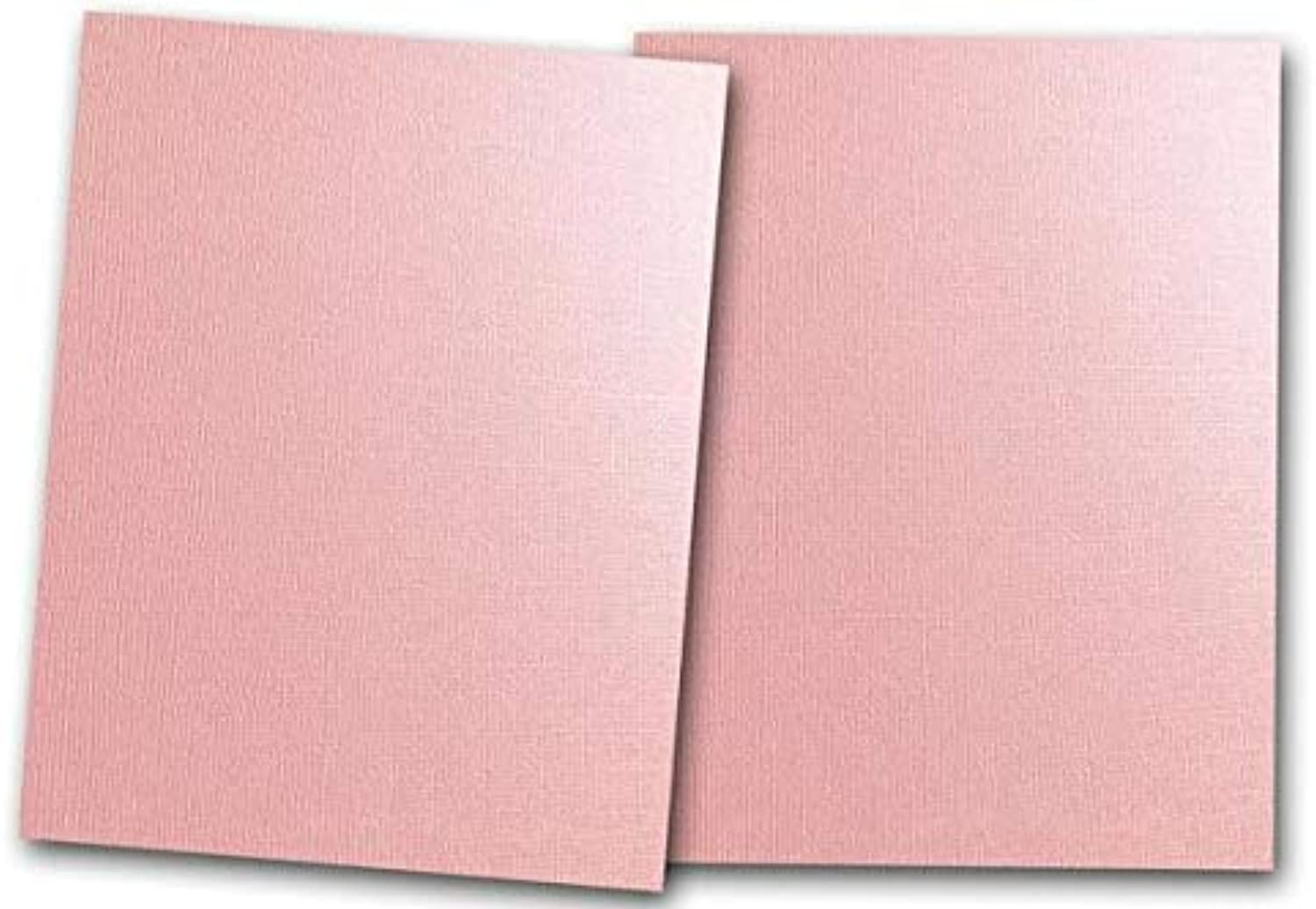 Premium Pearlized Metallic Textured Pink Taffeta Card Stock 80 SheetsMatches Martha Stewart Pink TaffettaGreat for Scrapbooking Crafts Flat Cards DIY Projects Etc. (5 x 7)