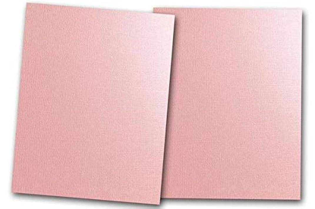 Premium Pearlized Metallic Textured Pink Taffeta Card Stock 80 Sheets - Matches Martha Stewart Pink Taffetta - Great for Scrapbooking, Crafts, Flat Cards, DIY Projects, Etc. (5 x 7)