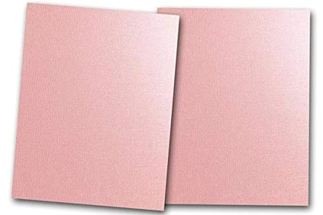 Premium Pearlized Metallic Textured Pink Taffeta Card Stock 80 Sheets - Matches Martha Stewart Pink Taffetta - Great for Scrapbooking, Crafts, Flat Cards, DIY Projects, Etc. (5 x 7)