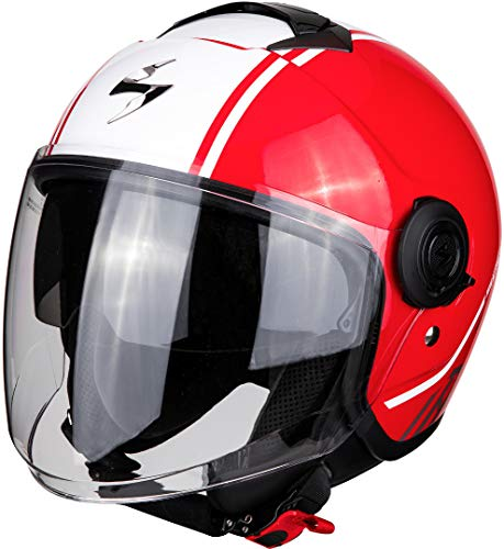 Scorpion Motorradhelm EXO-CITY AVENUE Red-White, Rot/Weiss, M