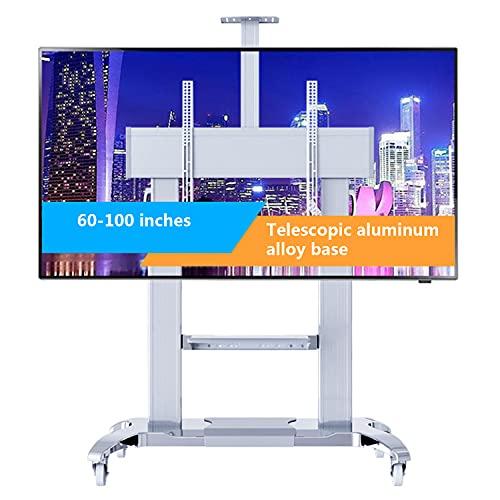 Televisor De Aleación De Aleación De Aluminio Telescópico Blanco Para Televisores De 60'a 100', Vesa 1000x600mm Max Compatible Con Tv Lcd Y Led Curvadas Y Planas