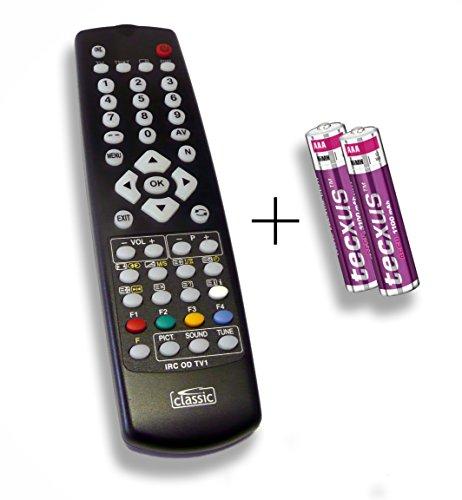 Ersatzfernbedienung speziell für RFT TV 70-2000 S/SAT DLZE®-Edition inkl. Batterien