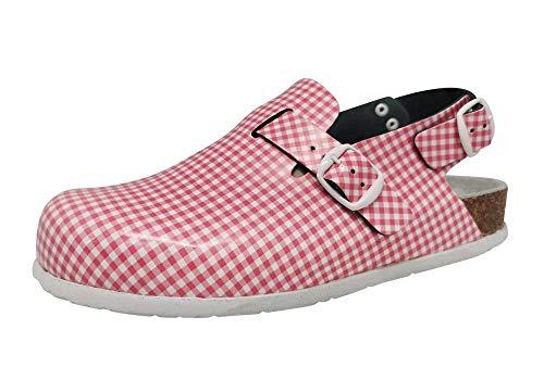 Sanita Footwear kurk Open - lederen werkschoen met hielriem en ergonomisch voetbed