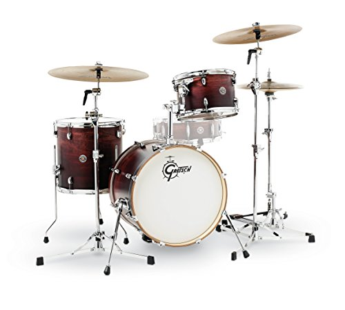 Gretsch Drums CT1-J483-SAF Catalina Club 3 Piece Drum Shell Pack, Satin Antique Fade